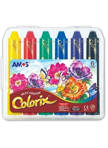 Amos Ucu Bır Arada Boya Colorıx 6Lı Pp Kutu Renkli